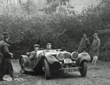 Jaguar - 1939 Exeter Trial  6 & 7.1.39 SS100 No 289 at Pin Hill Abecassis with John Taylor